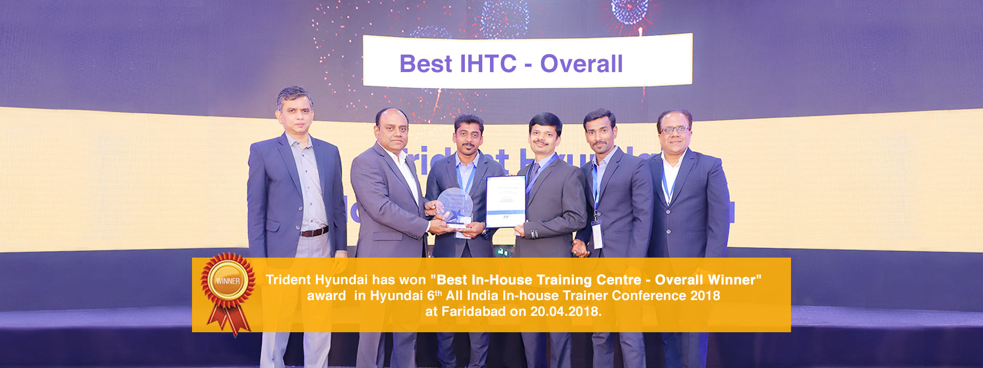 Best In-House Training Centre- Overall Winnere